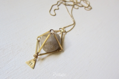 TUMBLED GEMSTONE GEOMETRY NECKLACE